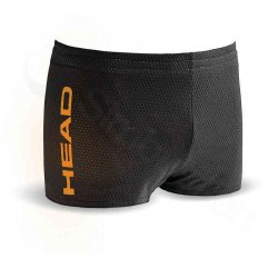 Badbyxor drag short svart/orange - HEAD