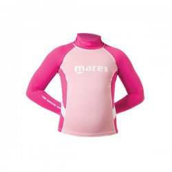 Uv-tröja barn rash guard junior med lång ärm rosa/rosa - Mares