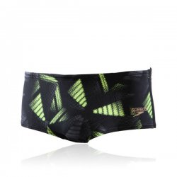 Badbyxor herr Allover Trunks 14cm svart/grön - Speedo