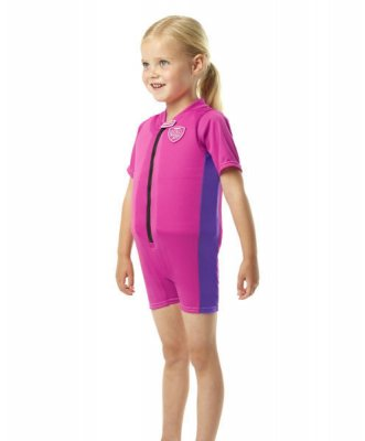 Flytdräkt barn Sea Squad float suit rosa - Speedo